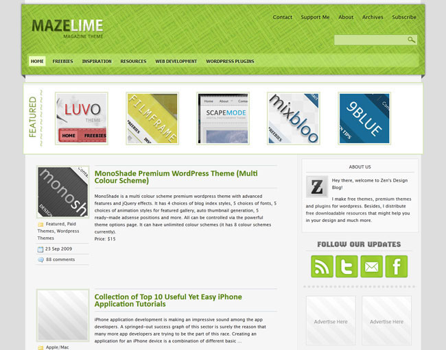 Free Magazine WordPress Themes 2013