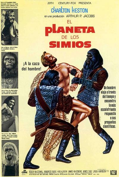 Cartel cinematográfico de El planeta de los Simios original