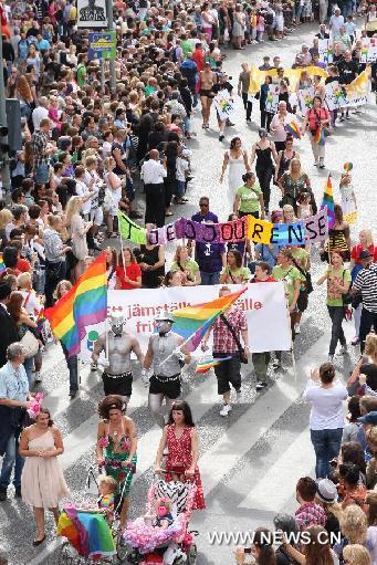 Perarakan gay di Stockholm