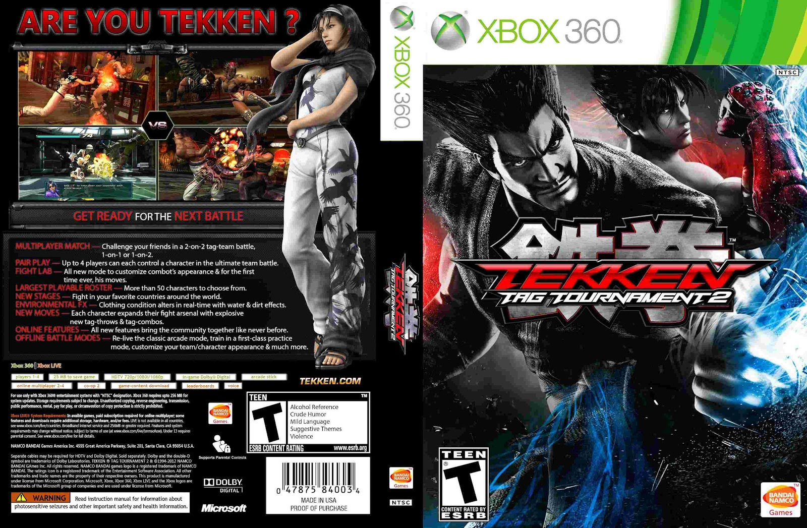 Cover tekken tag tournament 2 xbox 360