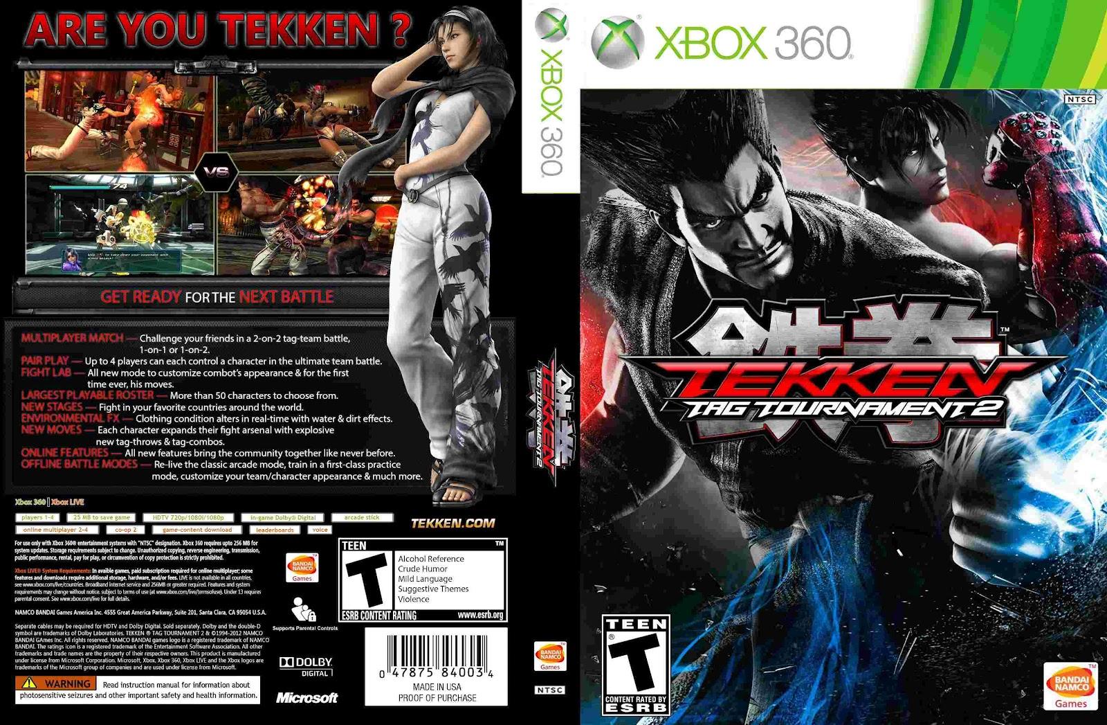Cover tekken tag tournament 2 xbox 360