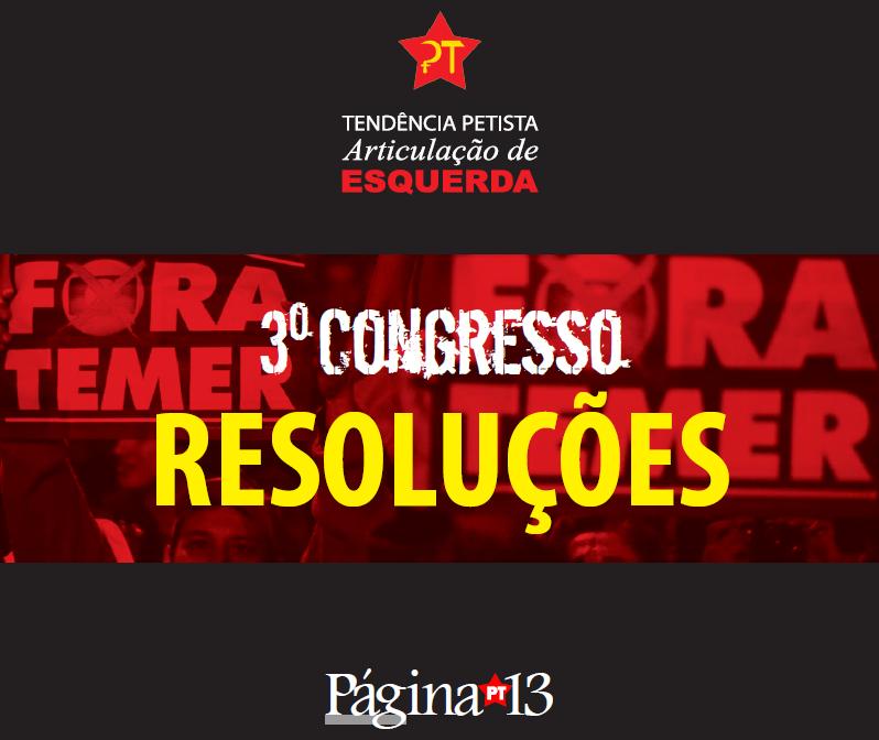 Resoluções do 3° Congresso da AE