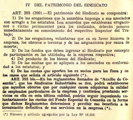 Vigente en 1973, patrimonio sindical integrado, también, por utilidades empresariales.