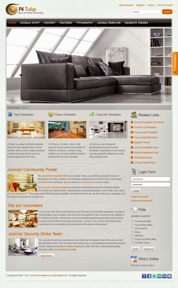 JV Tulip - Joomla Vision Templates