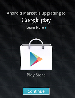 cara upgrade Android Market ke Google Play Store