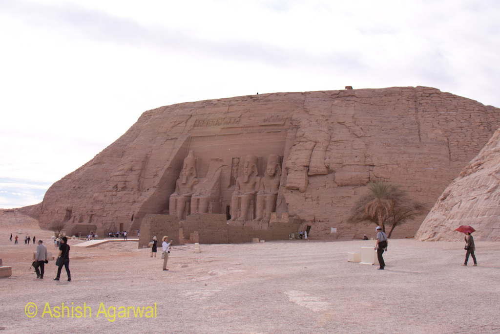 Main temple dedicated to the pharaoh at Abu Simbel in South Egypt