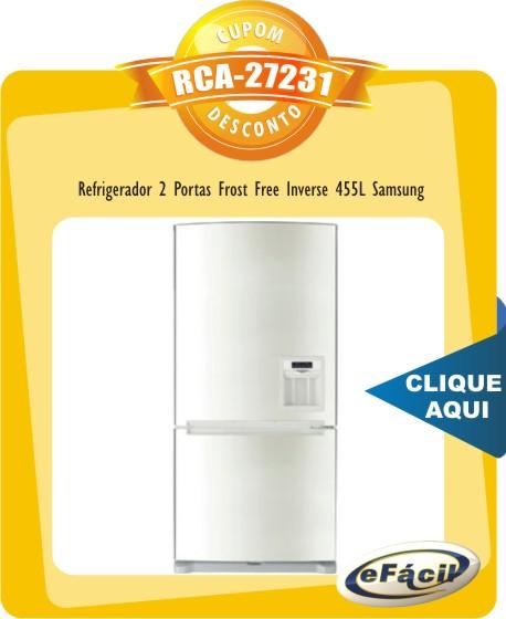 Cupom Efácil - Refrigerador Frost Free Inverse 455L Samsung