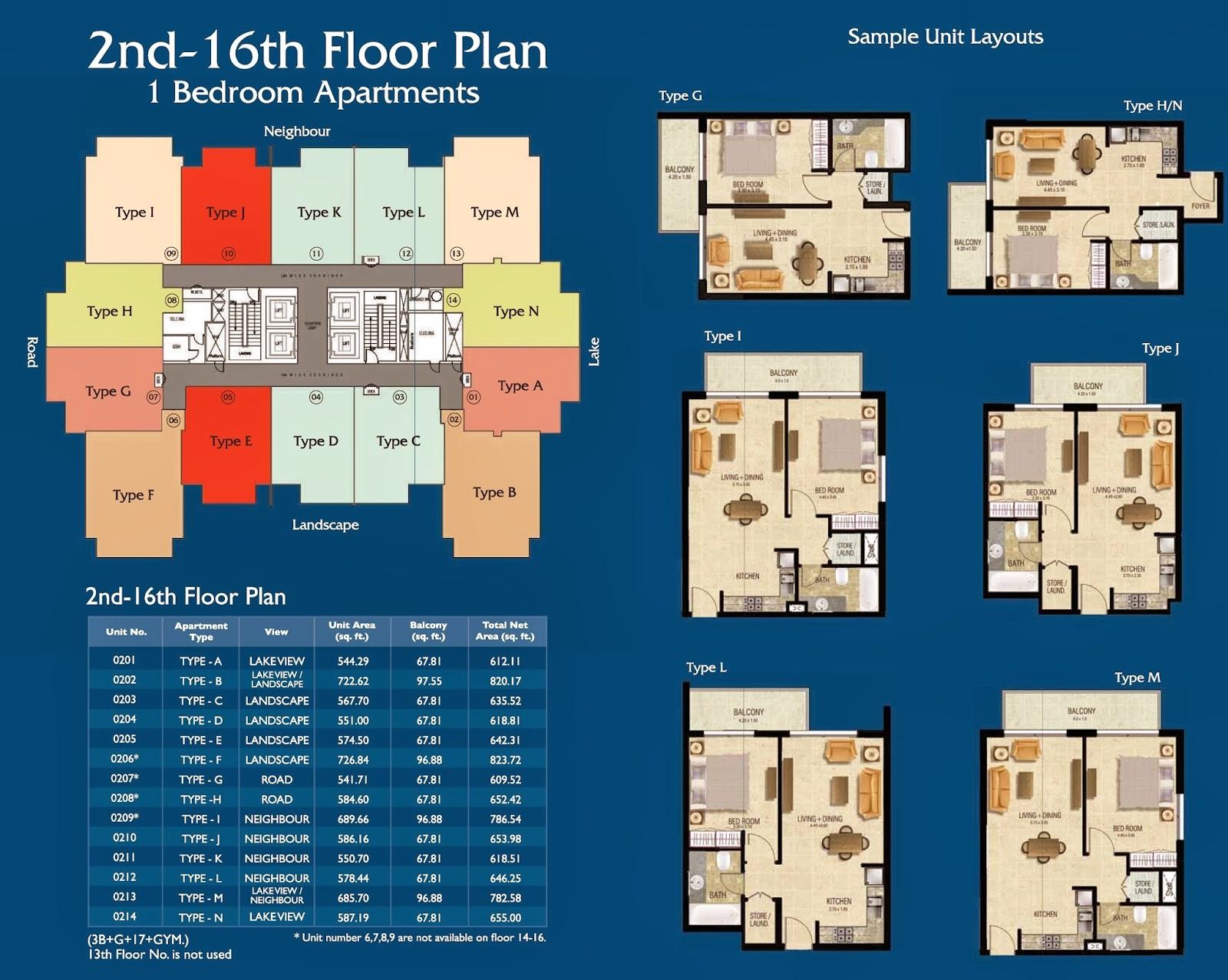 Mayfair Residence Business Bay Dubai Floor Plan