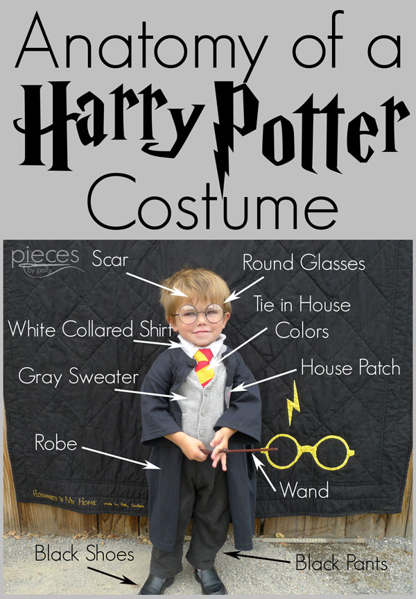 Pieces Polly Diy Harry Potter Costume Hogwarts