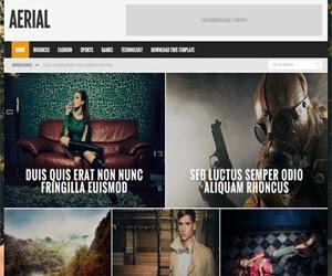 Aerial - Blogger Template Blogspot tin tức đẹp chuẩn SEO 2015