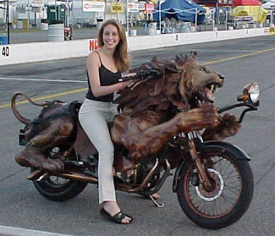 Lion Bike with Hot Girl