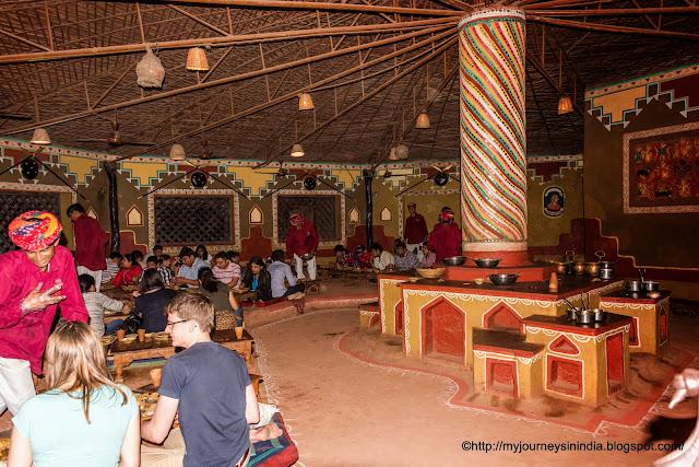 Traditional Rajasthani Thali Chokhi Dhani Jaipur