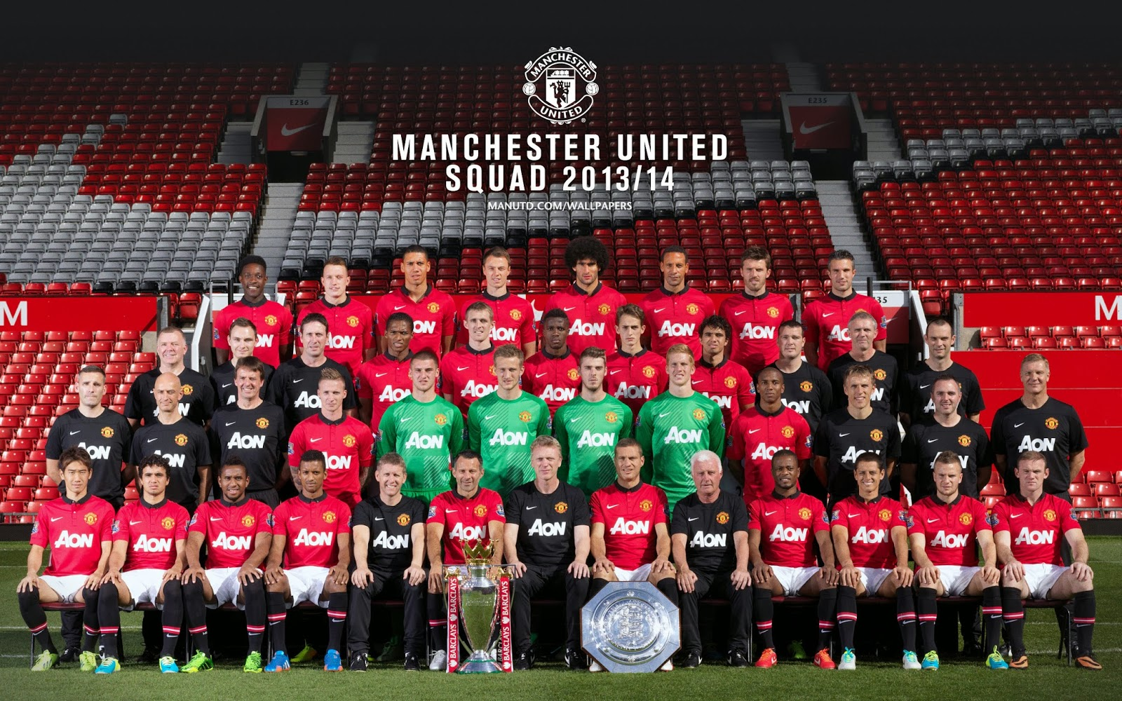 manchester united 20132014 squad wallpaper download