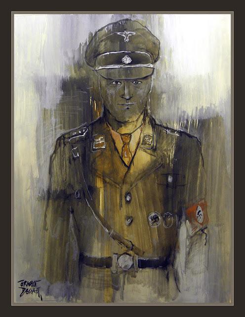 SS-WW2-UNIFORMES-TERCER REICH-PINTURA-ARTE-RETRATOS-PINTOR-ERNEST DESCALS-