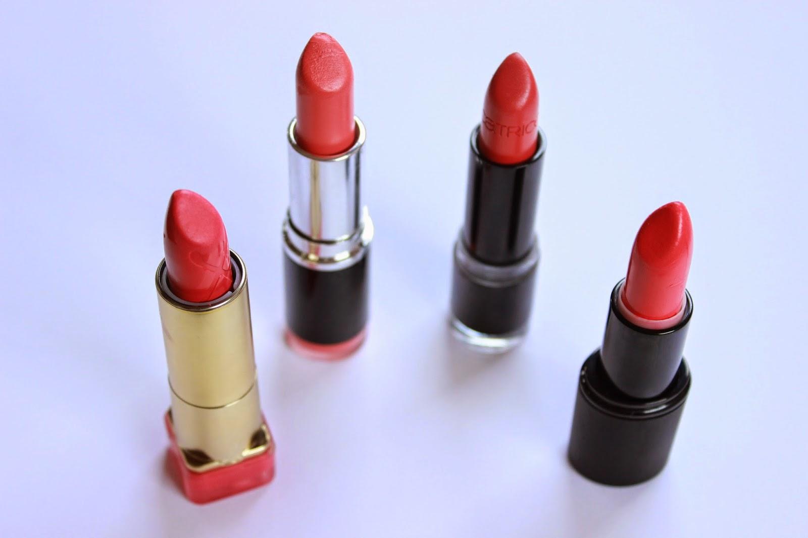 koraal lipsticks