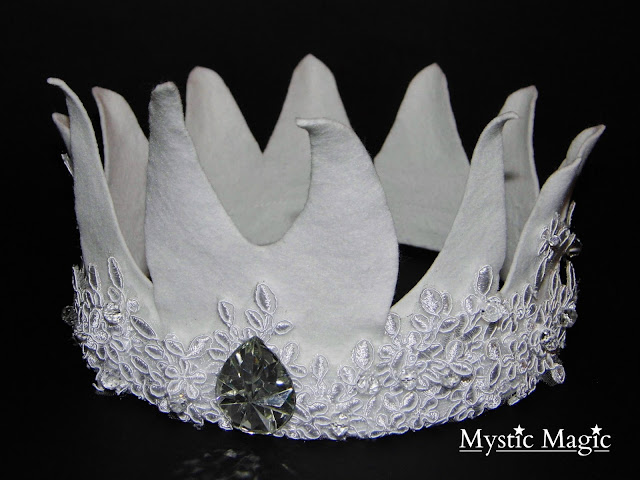 strictly come dancing, halloween, chess, headpiece, white King headpiece, King crown, elf king, felt, white, lace, floral lace, diamond, floral, crown, Mystic Magic, designer, headwear, headpiece, fashion,