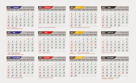 Kalender Indonesia 2015 + Hari Libur Nasional dan Cuti Bersama