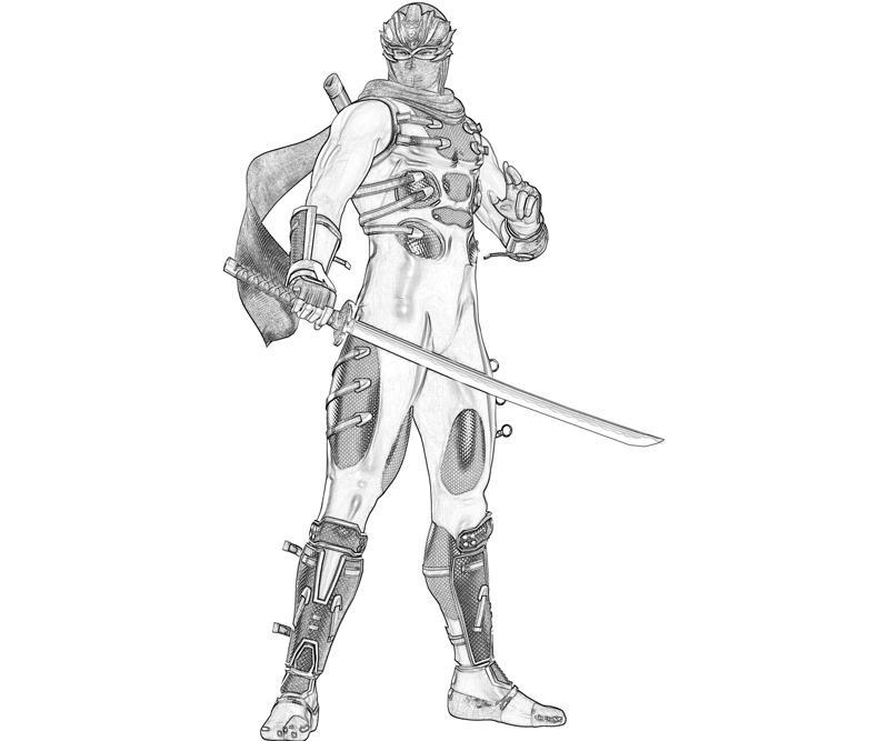 Printable Ninja Gaiden 3 Ryu Hayabusa Rain Coloring Pages title=