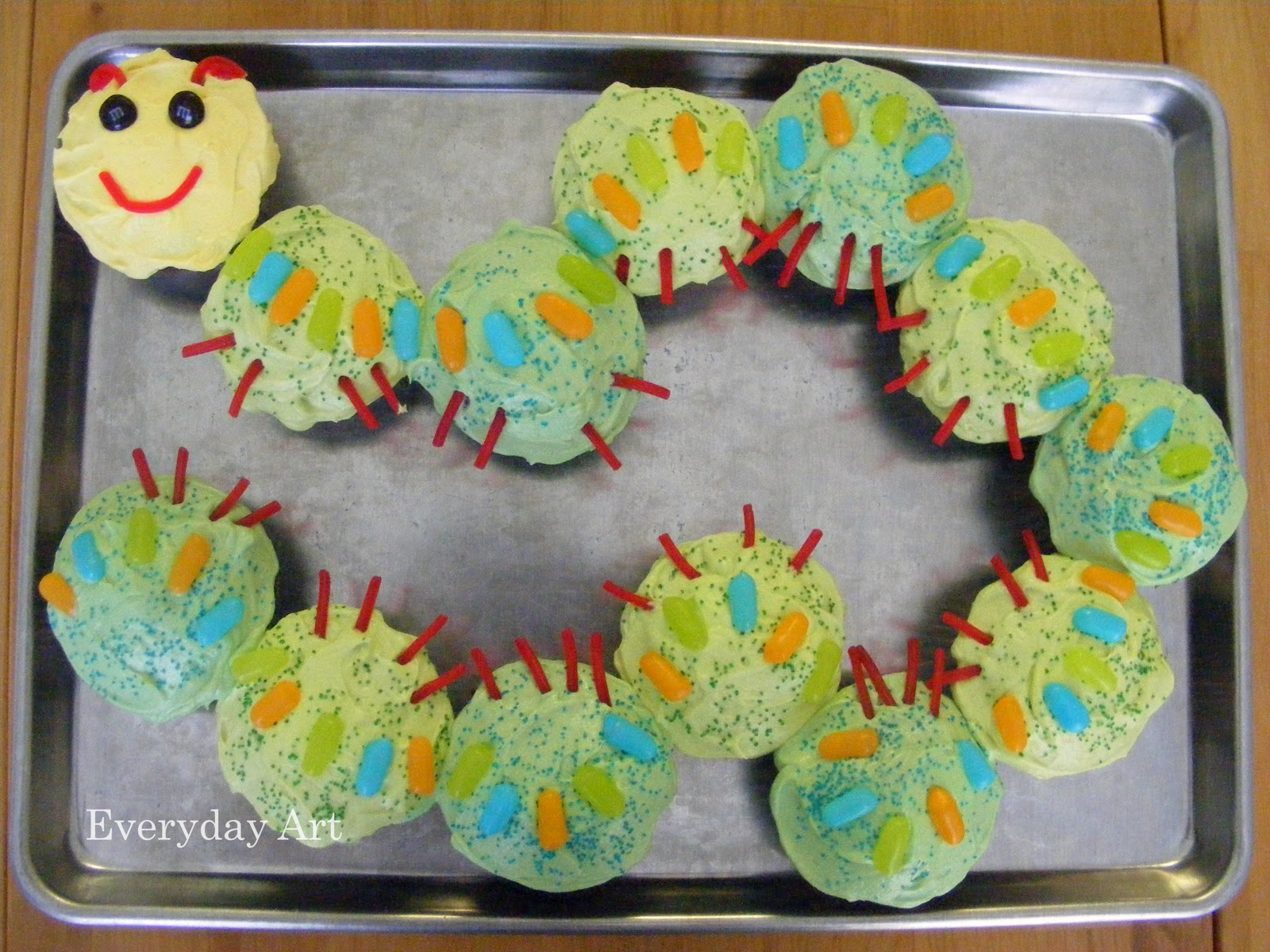 Everyday Art Caterpillar Birthday Cake