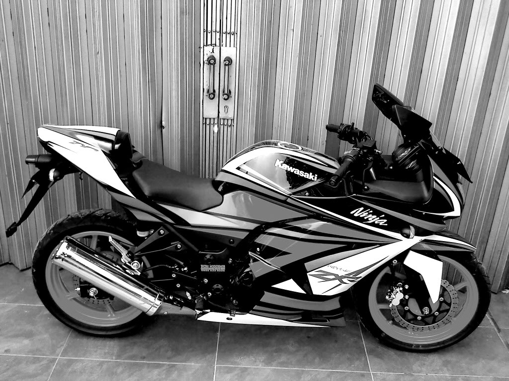 Ninja 250 Putih Cutting Sticker http://automotive-inet.blogspot.com/2013/01/ninja-250-cutting-sticker.html