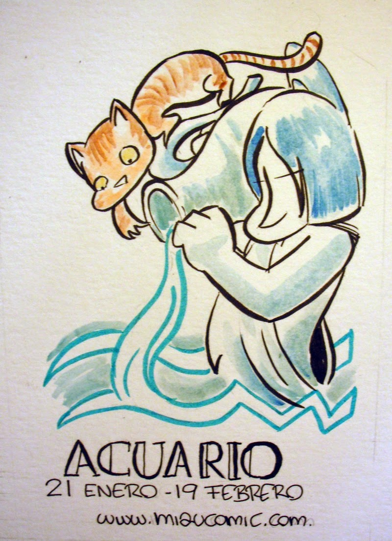 Zodiaco Gatuno signo de Acuario