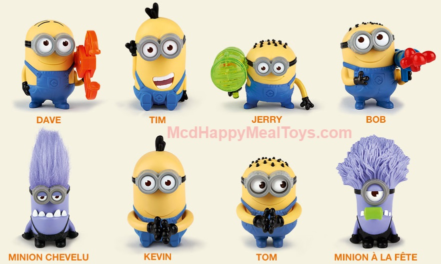 despicable me characters minions names
