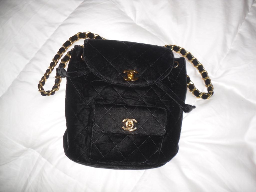 je ne sais quoi: ckparis, chanel black velvet vintage sac a dos ...
