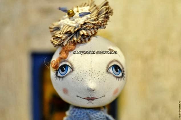 Роспись лица текстильной куклы. Мастер - класс
