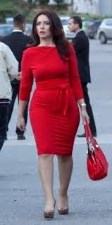 Grida Duma an albanian politician that follows the trends of fashion