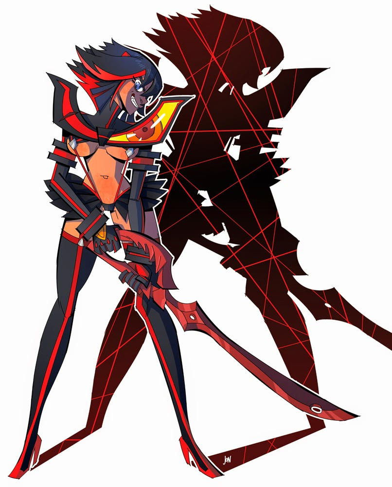 jonathan jon lankry 2D artist animation comic book animated ryuko matoi kill la kill pin up pinup pin-up trigger fanart