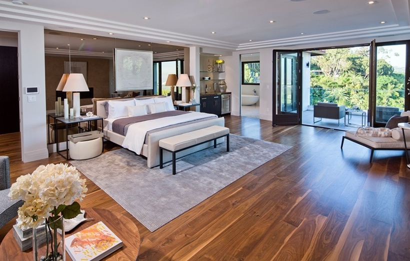 Master bedroom in Beverly Hills