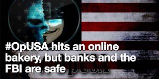 #OpUSA hits an online bakery, but banks and the FBI are safe