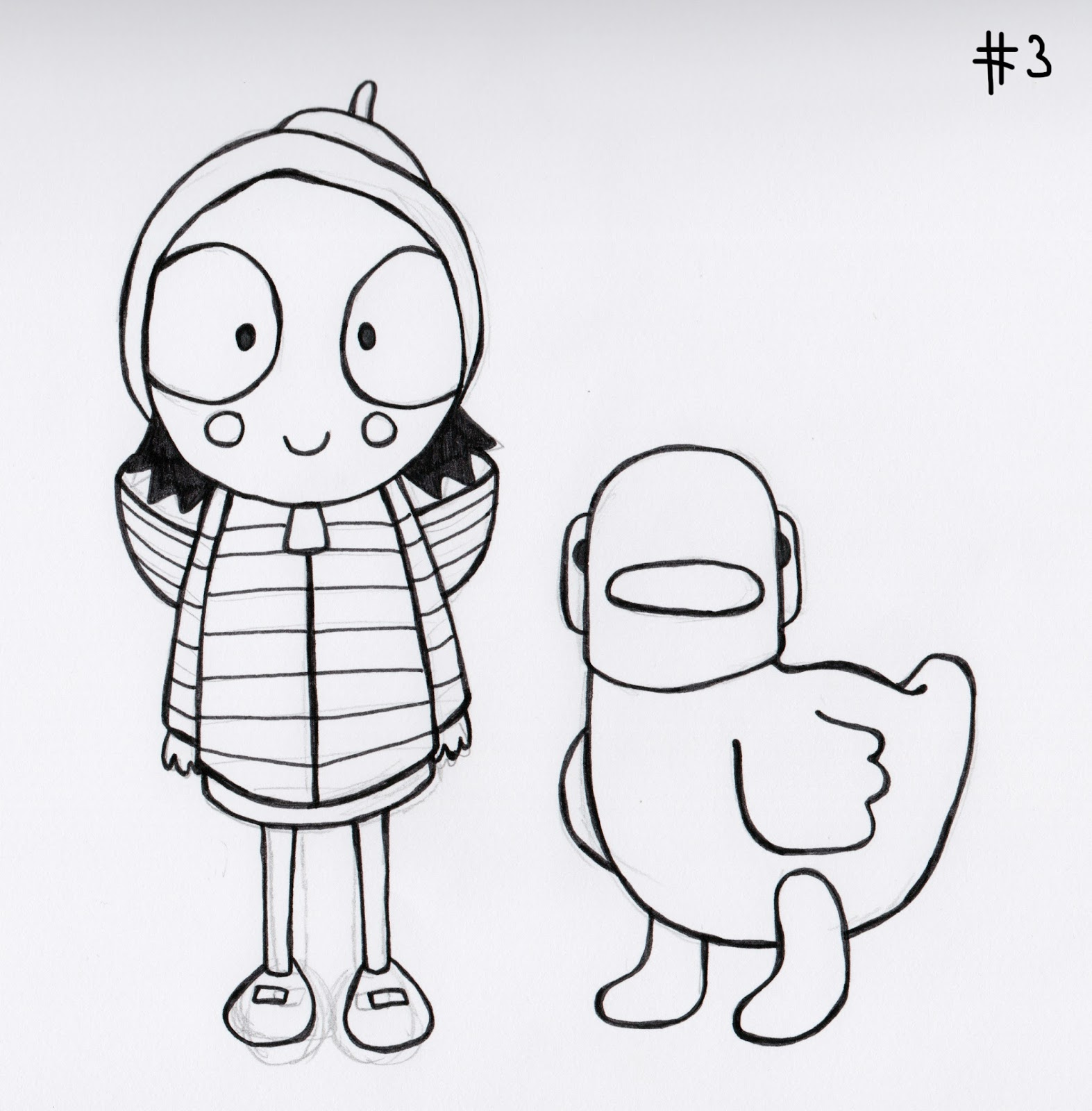 sarah and duck coloring pages - photo#12