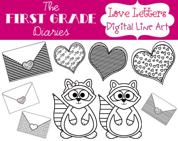 Line Art Letters : The first grade diaries love letters valentine s day clip art