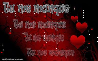 Sms d'amour romantique tu me manque