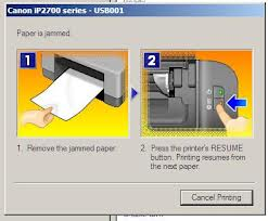 Printer untuk mereset printer. Pasangkembali kabel power printer dan