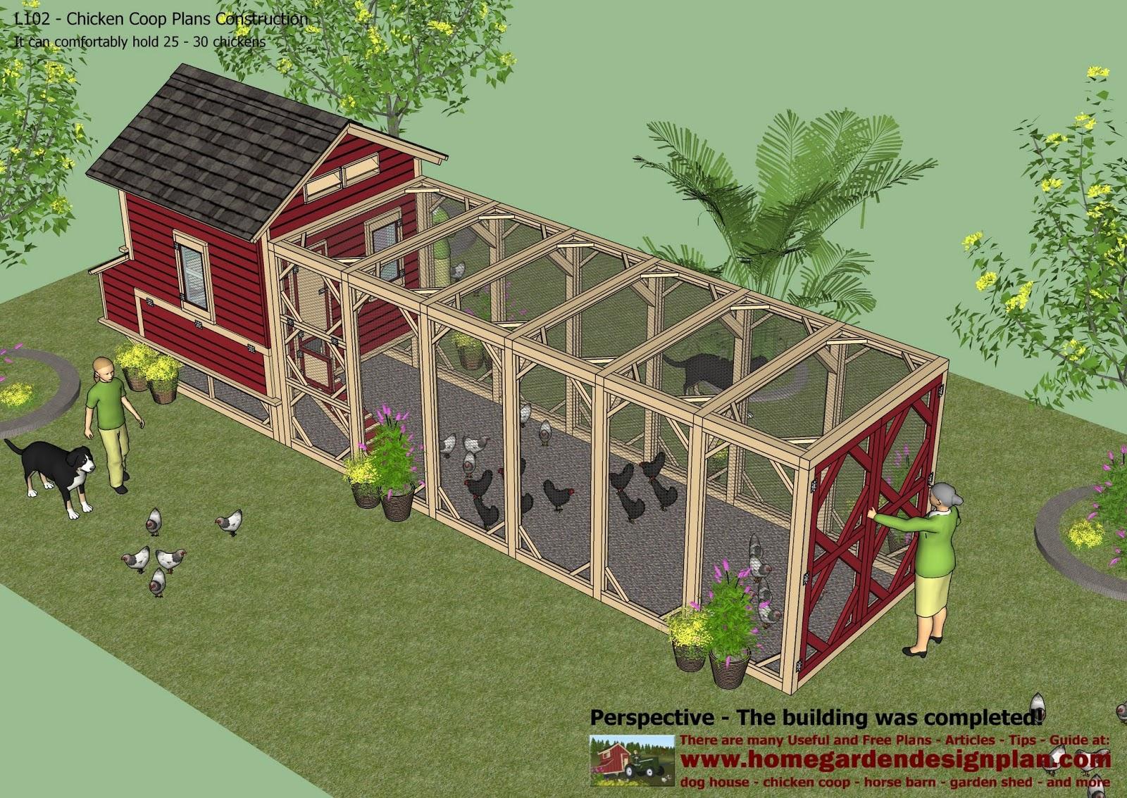 L102 - Chicken Coop Plans Construction - Chicken Coop Design - How To ...