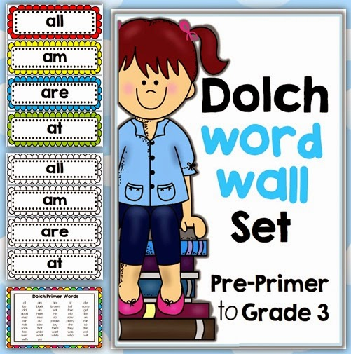 Dolch Word Wall download Clever Classroom