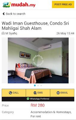 Iklan, Mudah.my, Homestay, Wadi Iman Guesthouse