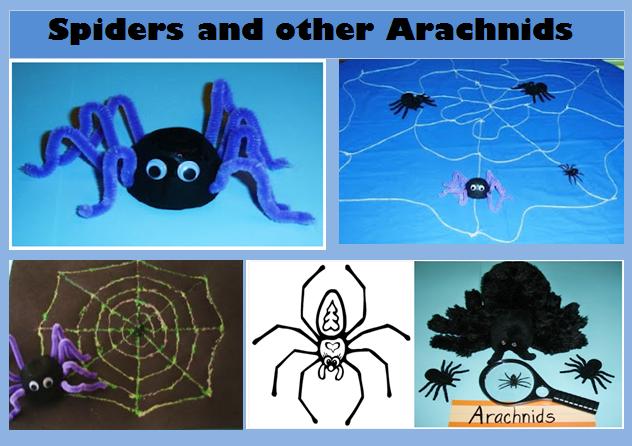http://learningideasgradesk-8.blogspot.com/2012/07/eek-spider-craft-activities-and.html
