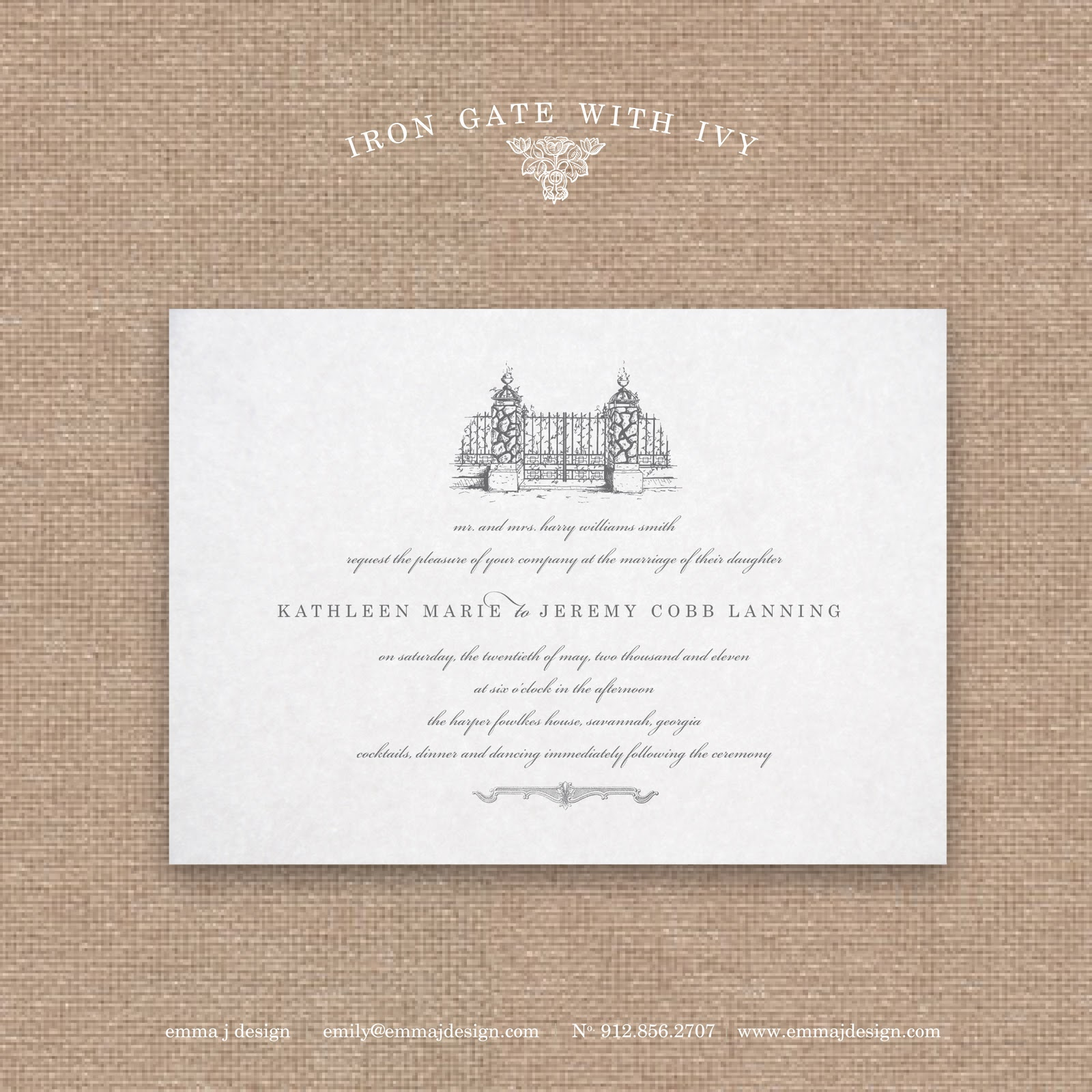 The Savannah Collection : Savannah Wedding Invitations {Savannah ...