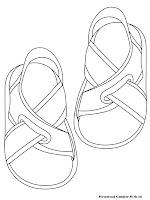 Mewarnai Gambar Sandal