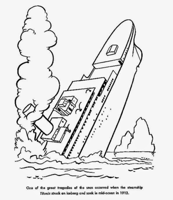 usa printables wreck of the titanic coloring sheet american