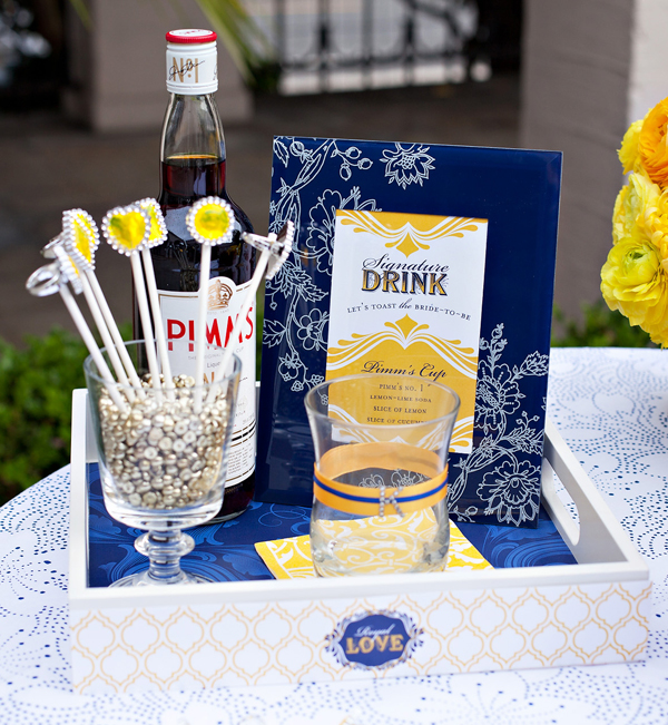 Royal Wedding Bridal Shower Yellow and Blue Wedding Inspiration