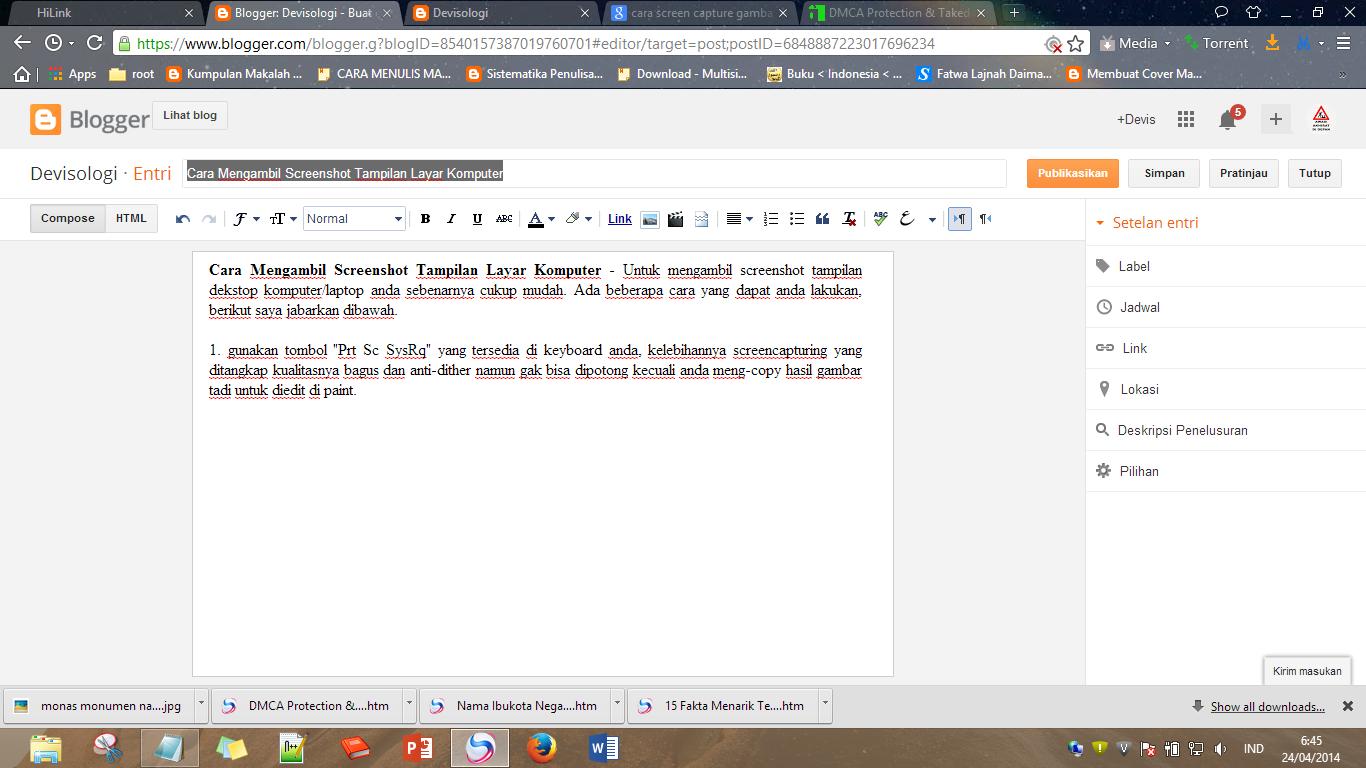 screenshot hasil keyboard,screenshot,cara membuat screenshot