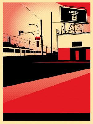 Obey Giant &#8220;SD Billboard&#8221; Screen Print by Shepard Fairey