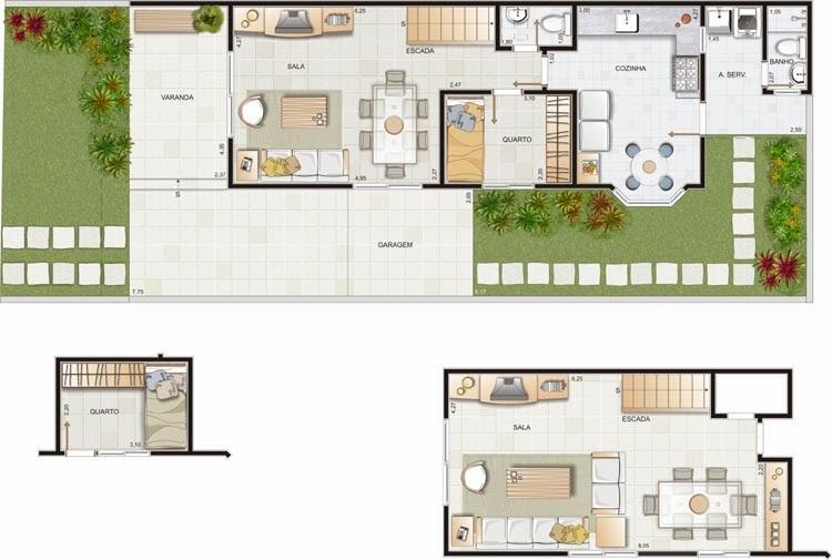 Planta de casa sobrado de 150 m2 plantas de casas for Casa moderna 150 m2