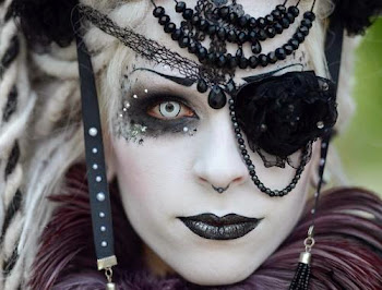 The Dark Side....Reveler at Wave Goth Festival in Leipzig Germany