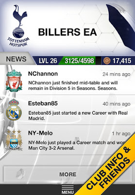 FUT 13 iOS App - Club Info & Friends - FIFA 13 Ultimate Team