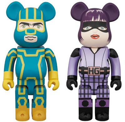 Kick-Ass 2 400% Be@rbrick Vinyl Figures by Medicom - Kick-Ass & Hit-Girl